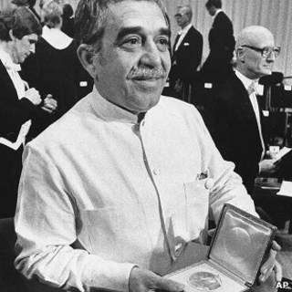 马尔克斯于1982年10月诺贝尔文学奖颁奖典礼