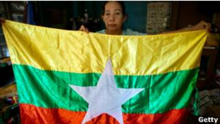 پرچم برمه عکس از آرشیو