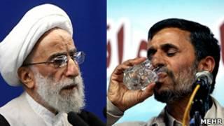 محمود احمدی نژاد و احمد جنتی