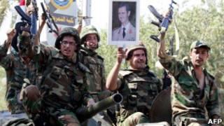 جنود من الجيش السوري النظامي