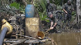 Militares na Guiana Francesa/AP
