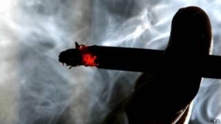 燃燒的煙頭