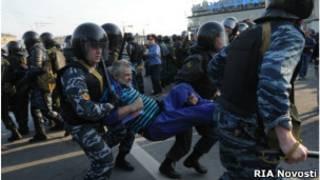 Арест участника Марша миллионов