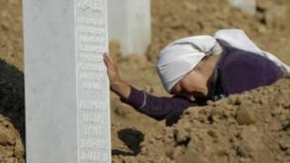 A relative of Srebrenica victim