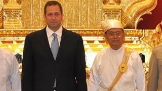 Derek Mitchell and U Thein Sein