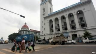 Suasana kota Rangoon