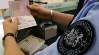 英國邊境署移民官員
