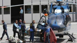 Вертолет с пострадавшими