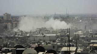قصف حمص