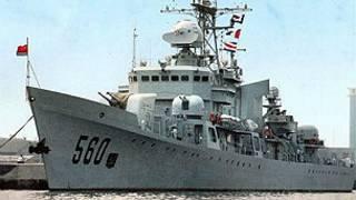 Chiến hạm 560 của TQ, chiếc bị mắc cạn ở Bãi Trăng Khuyết