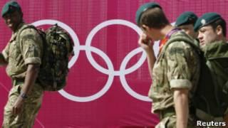 奥运保安军人