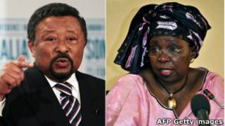 Ping (esq.) e Dlamini-Zuma   Foto: AFP