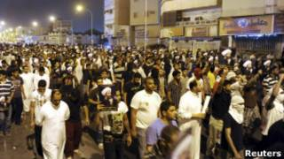 مظاهرات في المنطقة الشرقية السعودية