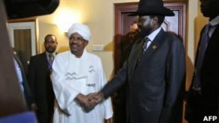 Bashir iyo Salva Kiir