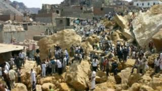البحث عن ضحايا انهيار صخرة في المقطم