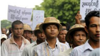 Protesters demanding farmers' rights
