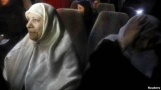 Keluarga tahanan Palestina
