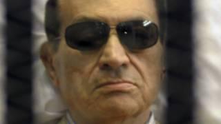 مبارك اثناء محاكمته