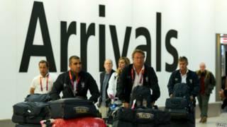 ورود ورزشکاران به هیترو، المپیک