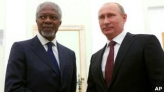 Владимир Путин и Кофи Аннан