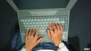 Usuario de laptop