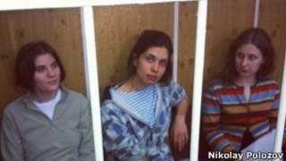 Задержанные участницы Pussy Riot