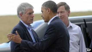 Барак Обама и официальные лица
