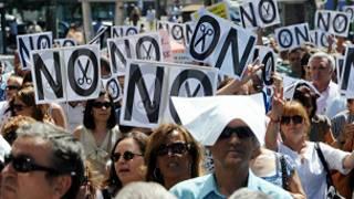 Protesto em Madri. AFP