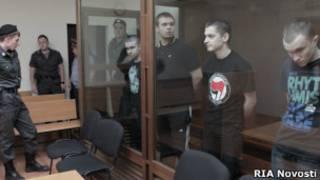Скинхеды в зале Симоновского суда