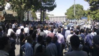 تظاهرات اعتراضی در نیشابور