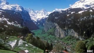 Alpes   Crédito: BBC