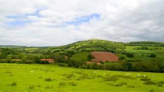 英国乡村的田园风光