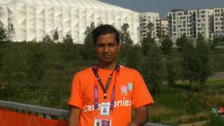 Thayaparan at the Olympic Park