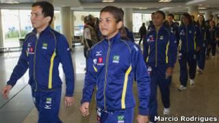 Equipe brasileira de judô Foto: Marcio Rodrigues/Fotocom.net
