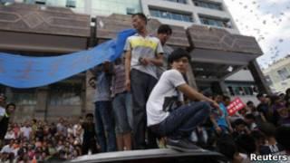 محتجون صينيون