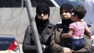 Wasu daga cikin 'yan gudun hijirar Syria