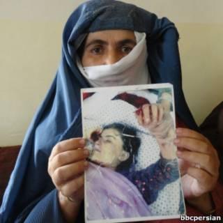 مادر دختری که یک سال پیش کشته شد