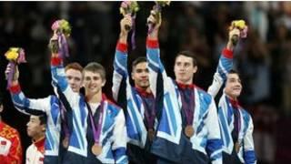 英国队获男子体操团体季军