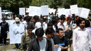 تظاهرات در کابل، عکس از مهدی مهرآیین