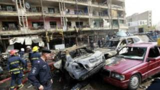Local de ataque a bomba em Bagdá