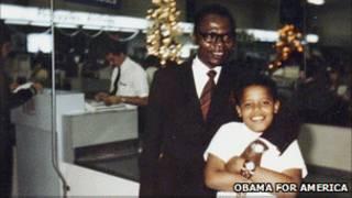 اوباما و پدرش