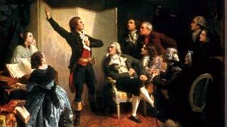 """Руже де Лилль впервые исполняет """"Марсельезу"""" в доме страсбургского губернатора 26 апреля 1792 года (картина Исидоре Пилса, 1849 год)"""