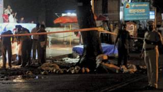 پونے کے دھماکے کی بعد کی فوٹو