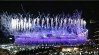 伦敦奥运开幕式上的烟火表演