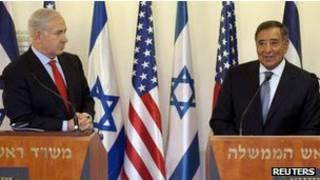 Премьер-министр Израиля Биньямин Нетаньяху и министр обороны США Леон Панетта