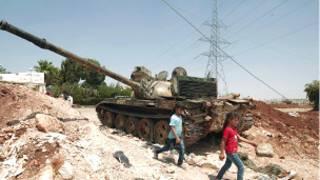 تانک غنیمت گرفته شده از ارتش