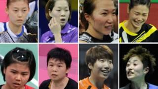 金荷娜、河贞恩、金旼贞、郑景银(上排从左至右),波莉、乔哈里、王晓理、于洋(下排从左至右)