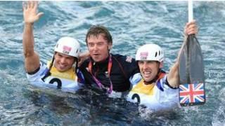 英國運動員奪冠慶祝