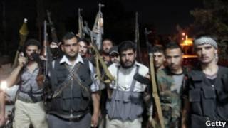 من مسلحي المعارضة السورية