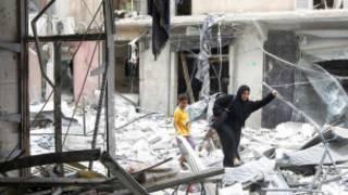 الدمار الذي خلفته الاشتباكات في حلب